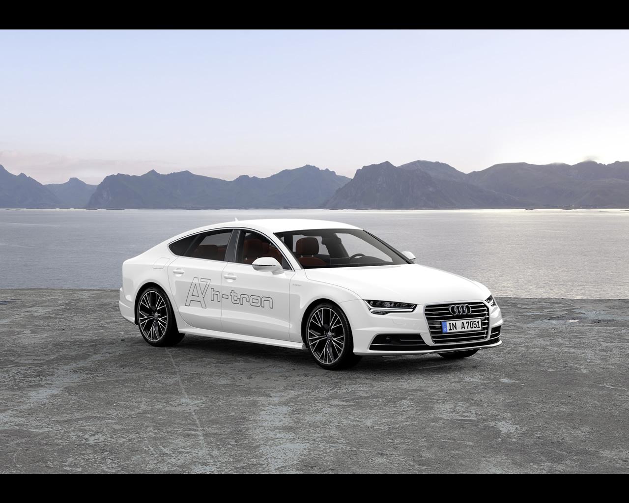 audi a7 sportback h tron quattro hydrogen fuel cell concept 2014. Black Bedroom Furniture Sets. Home Design Ideas