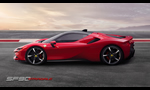 The Ferrari SF90 Stradale 986hp all wheel drive plug-in hybrid 2019 – the new series-production supercar
