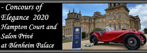 - Concours of Elegance 2020 Hampton Court Palace and Salon Privé at Blenheim Palace
